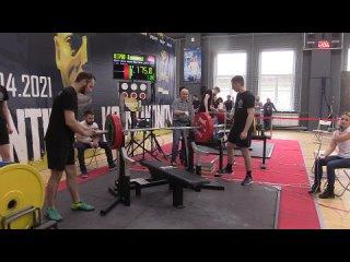 Росляков Сергей жим лежа 202,5 кг св 90,00 кг