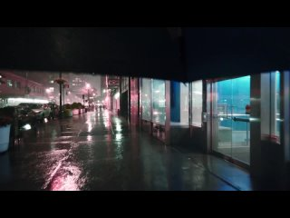 Nomadic Ambience - Walking in Heavy Thunderstorm at Night in NYC (Umbrella Binaural 3D Rain Sounds)