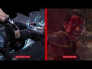 """Сравнение фаталити из """"Мортал Комбата"""" с видеоиграми"""
