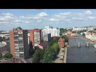 Калининград с высоты 15 этажа. Внизу рыбацкая деревня, справа-построенный к ЧМ-2018 стадион