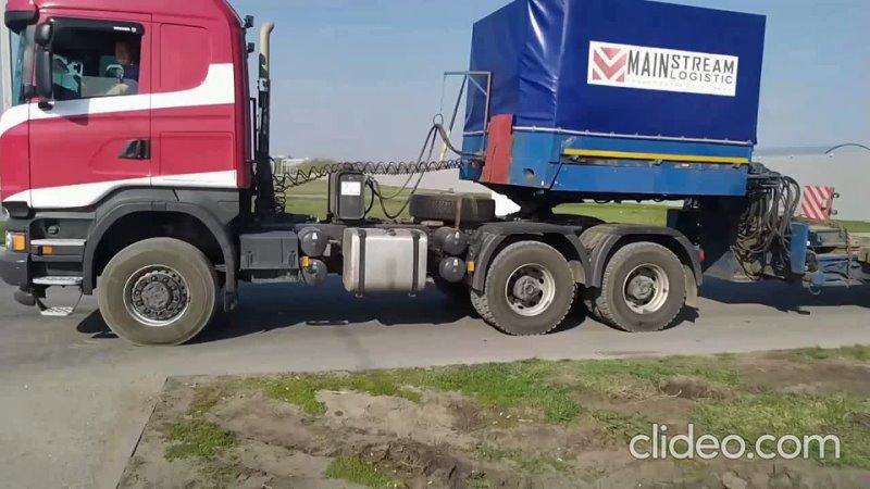 Перевозка деталей башенного крана компанией - MainStream