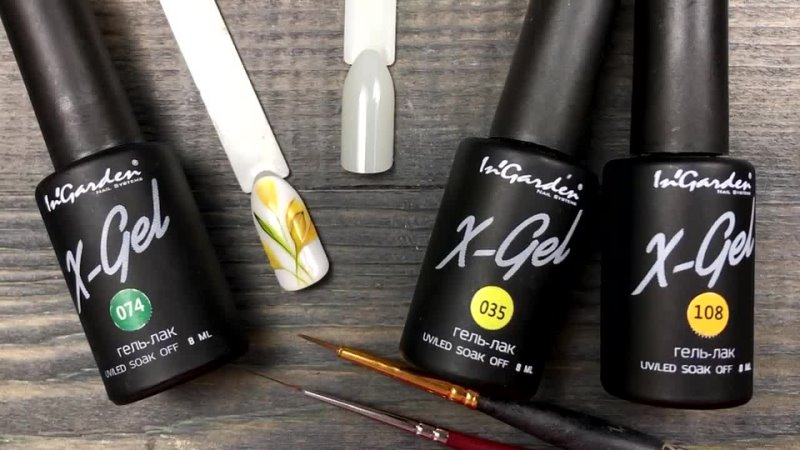 💐 Экспресс Дизайн Ногтей с Цветами для Весеннего Маникюра Желтые Первоцветы Р mp4