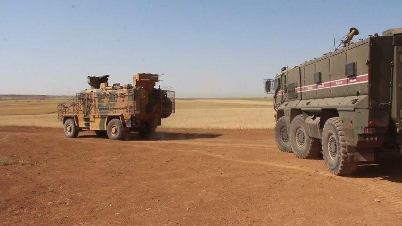 Совместный патруль России и Турции на северо-востоке Сирии