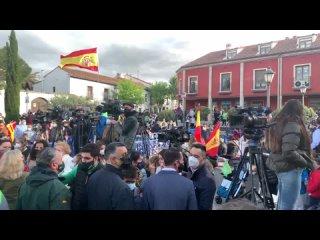 VOX · Previa Mitin patriota con Santiago Abascal y Patricia Rueda en Navalcarnero (21 abril 2021)