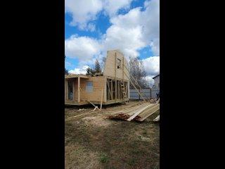 Со стройки в Ленинградской области, дом 6х6