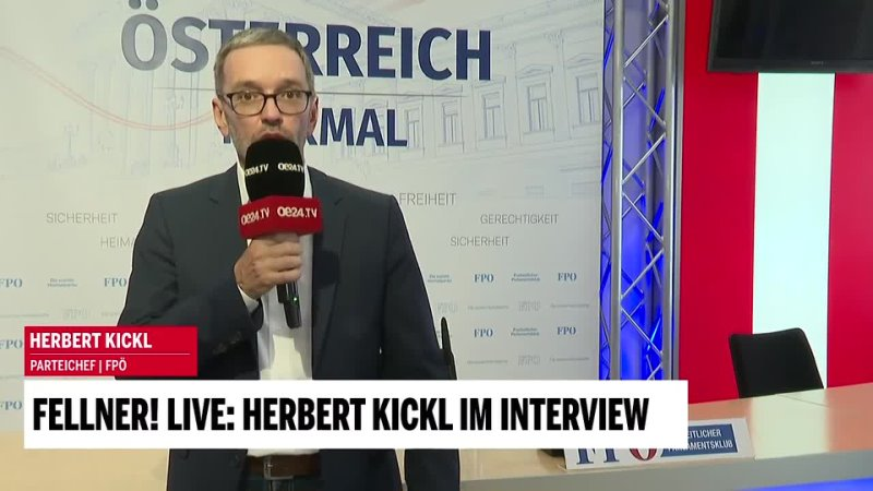 Fellner LIVE Herbert Kickl im Interview 2021