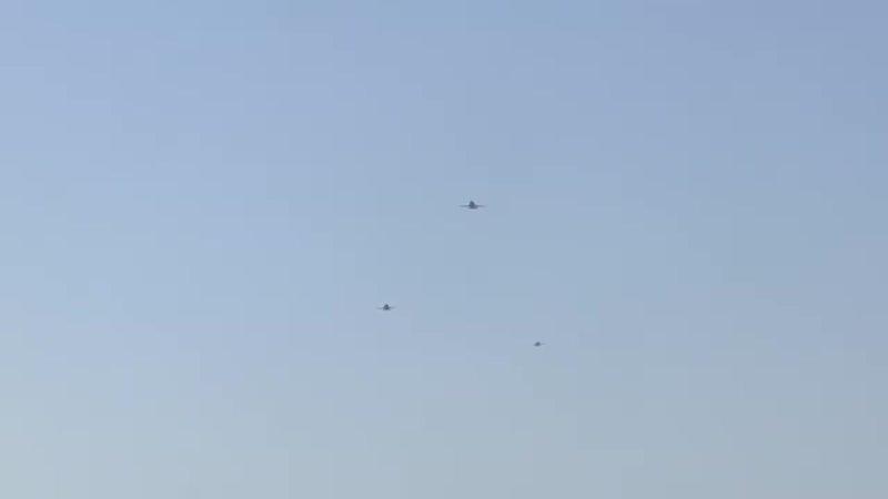 На российскую авиабазу Хмеймим в Сирийской Арабской Республике осуществлен перелет трех дальних бомбардировщиков Ту 22м3