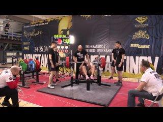 Медведева Юлия Жим лежа в многопетельной софт экипировке 240 кг св 85,40 кг