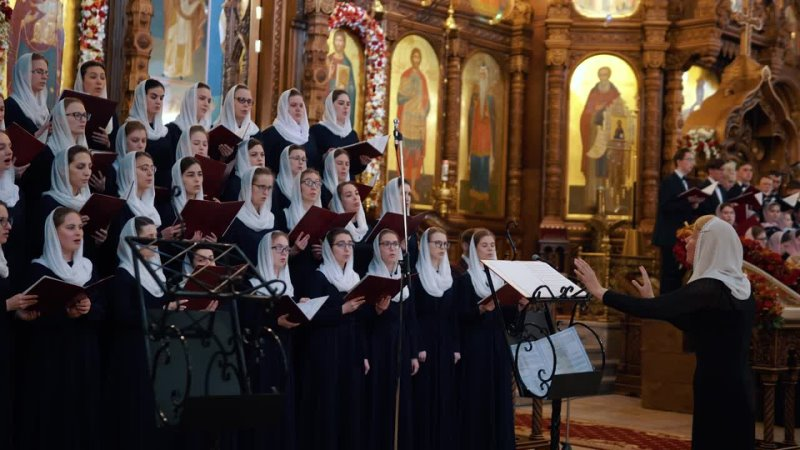 НПЖДУ Сколько на небе звёзд регент Татьяна Кострова Пасхальный Хоровой Собор 2021 г