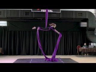 FLYDANCE. Dance Star Festival. Aerial silk & Original shell.