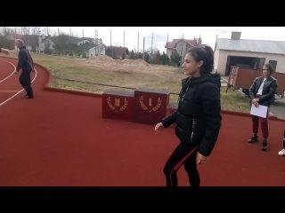 Награждение девочек призёров в беге на 200 м
