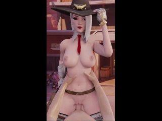 #63 [Overwatch] Ashe Nude Fuck 3D Porn sex (порно, секс, 3д, трах, киска, овервотч, pussy, fuck)