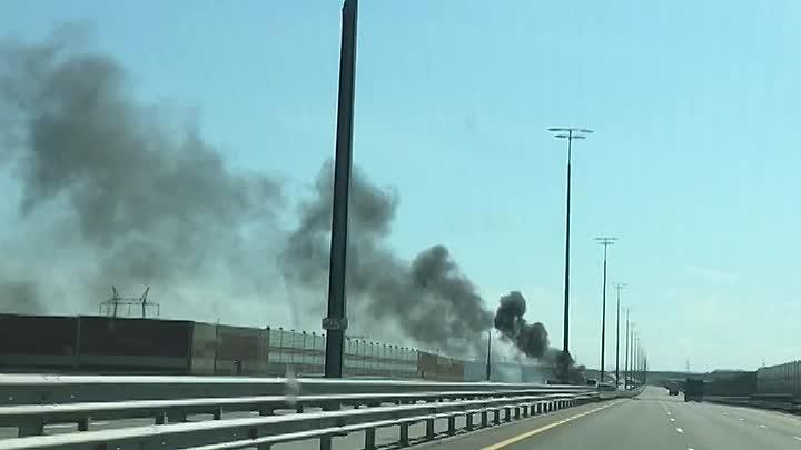 На платной М11 В 12:20 сгорел грузовик