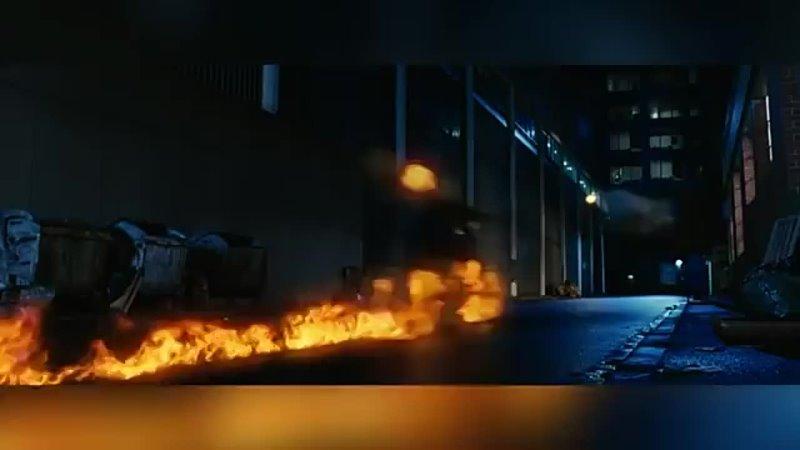 Скорпион из вселенной Мортал Комбат против Призрачного Гонщика