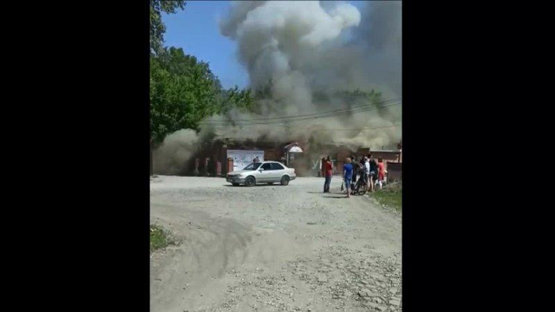 Сгорел магазин на Краснофлотской в Бердске
