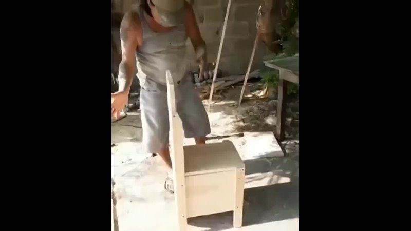 Универсальный самoдельный стул трансформер Строй сам