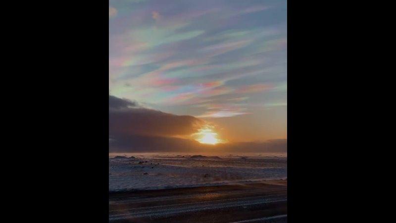 Перламутровые облака в Исландии 🇮🇸 Февраль 2021