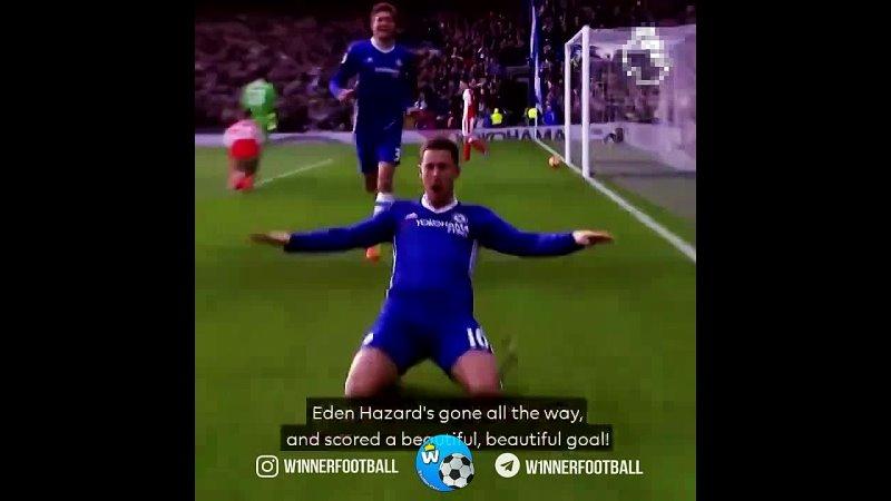 Гол Азара в ворота Арсенала