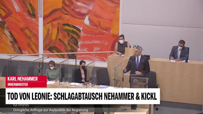 Tod von Leonie Schlagabtausch zwischen Nehammer Kickl