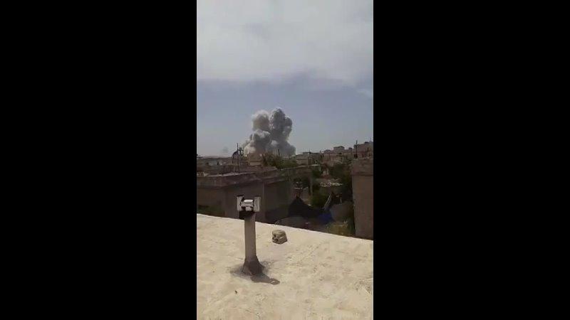 На севере Идлибского анклава террористов детонировал склад боеприпасов боевиков (3 мая 2021)