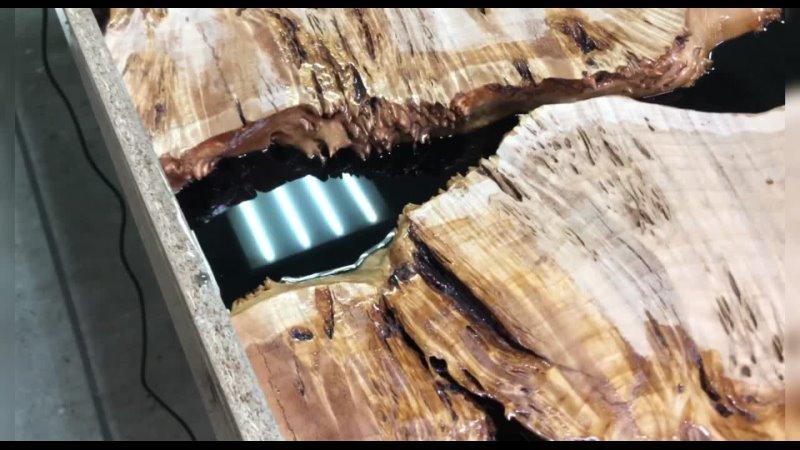 Стол-река с 3D-эффектом полный процесс изготовления