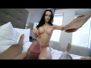 Spied on my huge boobs MILF stepmom but she caught me