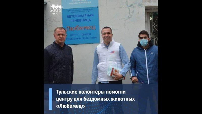 Тульские волонтеры помогли центру для бездомных животных Любимец