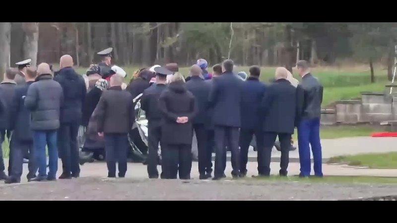 Театрализованное сожжение жителей деревни в Белоруссии