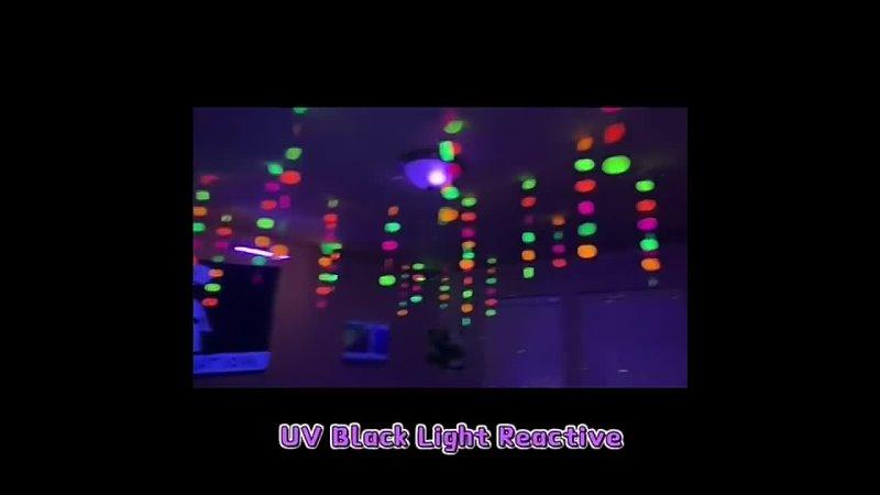50100 шт с флюоресцентной воздушные шары Blacklight реактивной