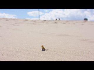 Робот от TechTics, собирающий окурки на пляжах