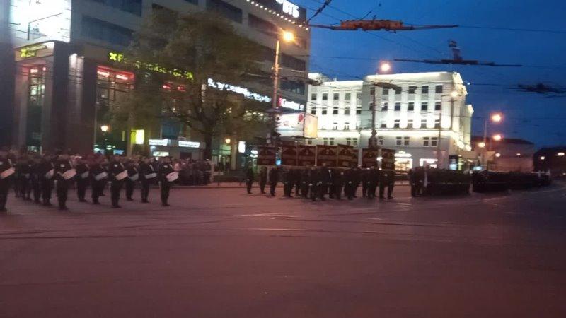 -Репетиция парада в Калининграде. Речь диктора. 3.5.21