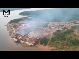 Лесозаготовки в Братском районе подожгли