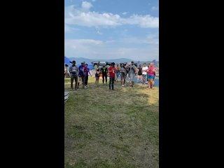 Награждение юниоров  1 км