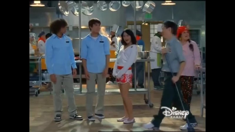 Zack Efron. Vanessa Anne Hudgens - Work This Out (Канал Disney)