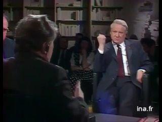 А. Зиновьев, Б. Ельцин, Франция, 1990 год.