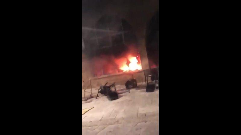 Израиль сожженный ресторан Ури Бури