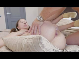 FirstAnalQuest Regina Moonshine - Petite Regina Moonshine tries her first anal fuck with creampie Hardcore, Anal, Anal Play