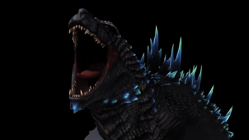 Godzilla yelling