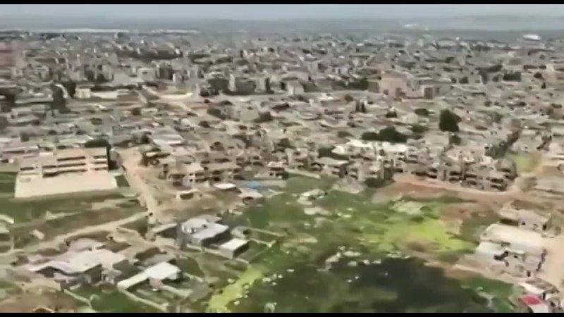 Вертолет Ми 8АМТШ В ВКС России во время патрулирования в сирийской провинции Хасака
