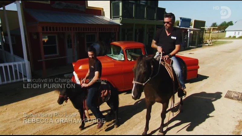 Gas Monkey Garage Richard and Aaron on horseback