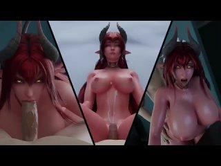 Sinia - POV; cowgirl; blowjob; succubus; 3D sex porno hentai; (by hentaivr | kaegantonovich) [Ryan Reos Original Character]