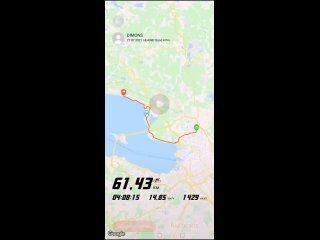 Санкт-Петербург-Комарово на велосипеде.Июль 2021.