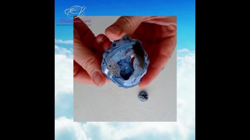 Видео от Geode Art украшения из ювелирной смолы≋Altamira