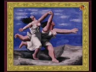 Одна минута в музее. Две женщины, бегущие по пляжу (Пикассо)