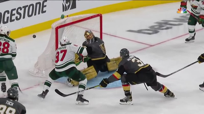 Marc Andre Fleury Reaches Behind His Back To Make Incredible Save On Kirill Kaprizov