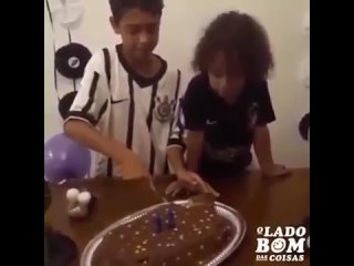 In Brazil we have this thing, where we give first piece of the cake to a loved one, his brother's re