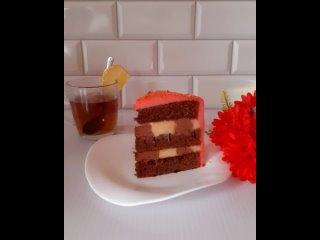 """Разрез и нежность торта """"Карамельный Латте"""""""