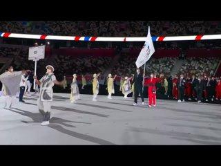 Наши спортсмены на открытии олимпийских игр в Токио