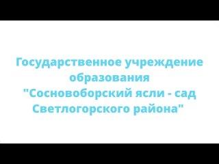 Видео от Сосновоборский ясли- сад Светлогорского района