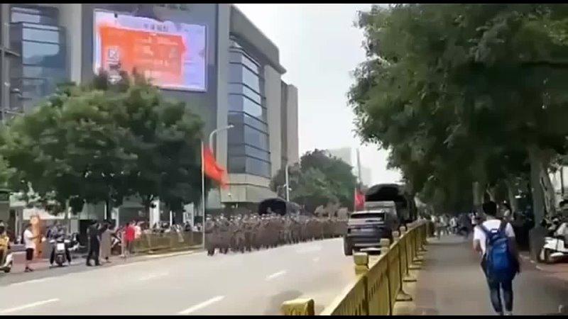 Армия Китая на расчистке mp4